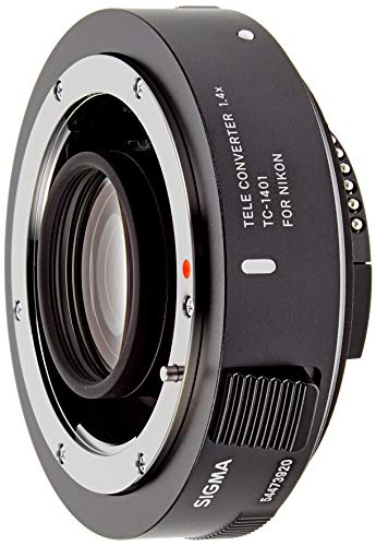 Sigma TC-1401 - Teleconvertidor (1.4X) para Nikon, Color Negro
