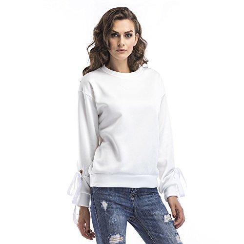 Dames Lente 2020 Europese en Amerikaanse Nieuwe Lange Mouw Plus Velvet Band Sweatshirt Effen Kleur Mode Top