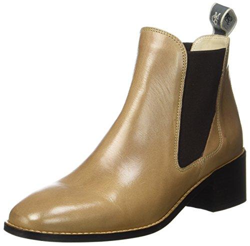 Marc O\'Polo Damen Mid Heel 70714165101101 Chelsea Boots, Braun (Taupe), 38 EU