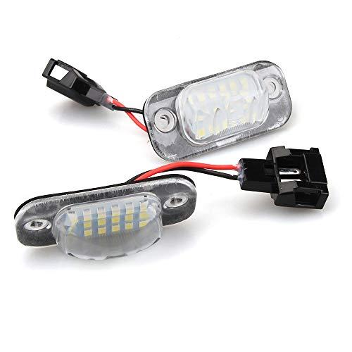 LED Kennzeichenbeleuchtung Nummernschilder Rück Lampe für Golf 3 Cabrio Polo 3 Variant Seat Ibiza, Weiß 6000K- 2 piece