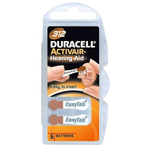 Duracell Kit de piles Duracell ActivAir auditifs-insert Easy To * Easy TAB Zinc Air type 10/PR 70 - 13 PR 48 - 312 PR 41 - 675 44 - 6er-PR TYP 312 6er Pack - 10x