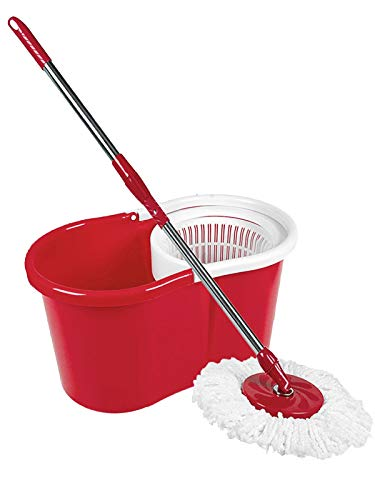 Crystals 360 Degree Spinning Mop Bucket Home Cleaner With Two Mop Heads