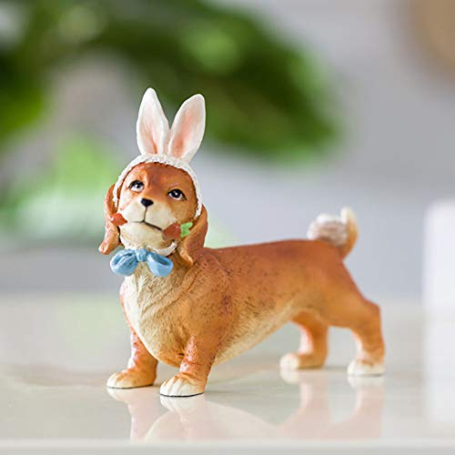 Yangyang Orejas de Conejo Adornos de Simulación de Diversión Creativa para La Decoración de La Boda del Coche Familiar,A
