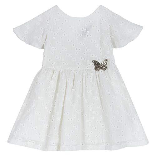 Chicco - Vestido de algodón crema 3 años
