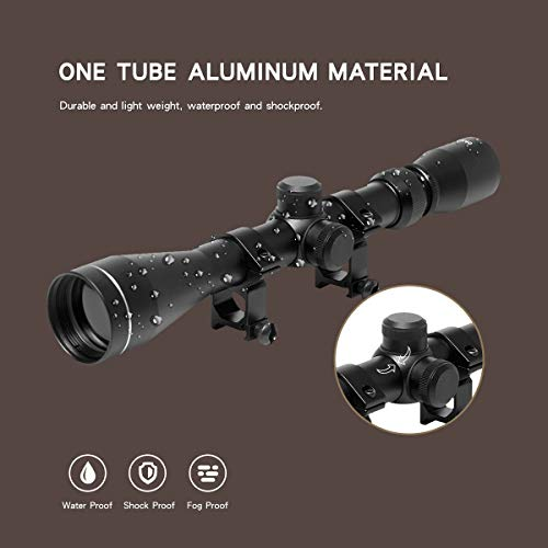 Goetland 3-9x40 Rifle Scope Optics R4 Reticle Crosshair Tactical Hunting Sniper with Mounts