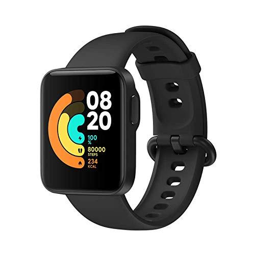 Xiaomi Mi Watch Lite - Reloj Inteligente, GPS, Control frecuencia cardíaca, 11 Modelos de Entrenamiento, Smartwatch Mujeres Hombres con Pantalla a Color AMOLED 1.4 '' 5ATM Tipo magnético Carga, Negro