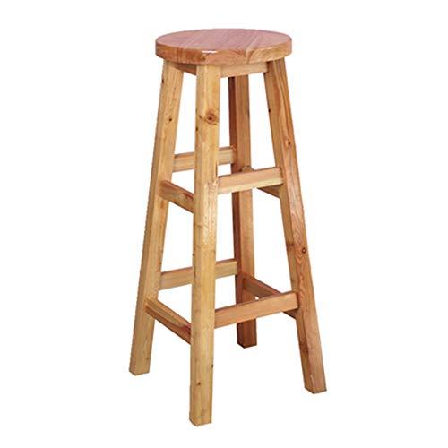 Wuxingqing barkruk retro massief houten bar hoge kruk IKEA hoge stoel Home Front Desk American Style Carbonized rugleuning tafel en stoel combinatie (Brown) voor ontbijtbaar/theke/keuken woonmeubelen
