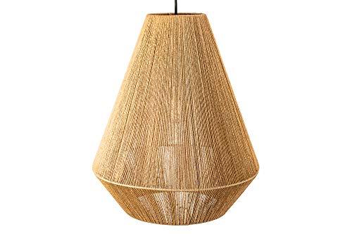 DuNord Design Hängelampe Rattan natur Rattanlampe Pendellampe Lampe 47cm