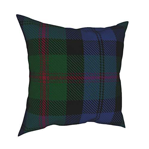 DearLord Clan Baird Tartan - Fundas de cojín grandes de doble cara cuadradas, fundas de almohada para sofá dormitorio con cremallera invisible 45,7 x 45,7 cm