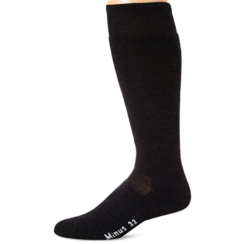 Minus33 Merino Wool Ski and Snowboard Sock, Charcoal, Medium