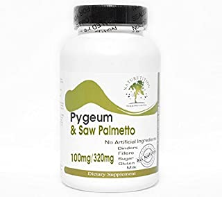 Pygeum 100mg & Saw Palmetto 320mg Standardized Extract ~ 200 Capsules - No Additives ~ Naturetition Supplements