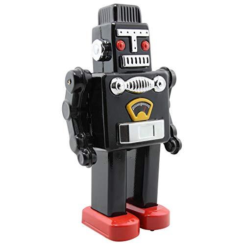 Superfreak Roboter - Mechanical Robot - schwarz - Blechroboter - Retro Blechspielzeug