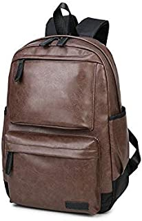Korean Men leather Shoulder bag backpack schoolbag Leisure bag travel bag laptop bag for men W-8471