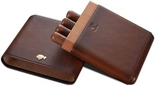 HUIJINCHAOSHI Cigarette Case, Cedar Wood Cigarette Case, Outdoor Portable Cigarette Case, 6 Cigar Moisturizing Cigarette Case. Fashion