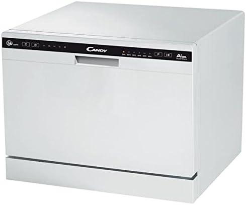 Lave vaisselle mini Candy CDCP6E - Mini lave vaisselle- Classe A+ / 51 decibels - 6 couverts - Blanc bandeau : Blanc