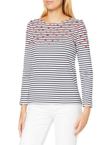 Joules Harbour Print T-Shirt, Strawberry Stripe, 6 Femme
