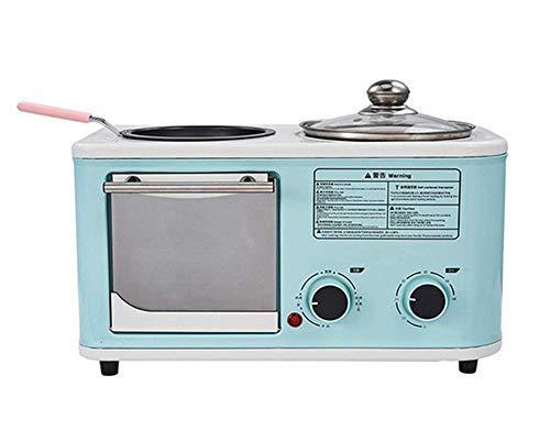 Frühstück-Maschine, 3-in-1 Multi-Funktions-Toaster Haushalt Mini-Sandwich-Hersteller mit Überhitzungs Power-Off-Schutz, Grün kshu (Color : Green)