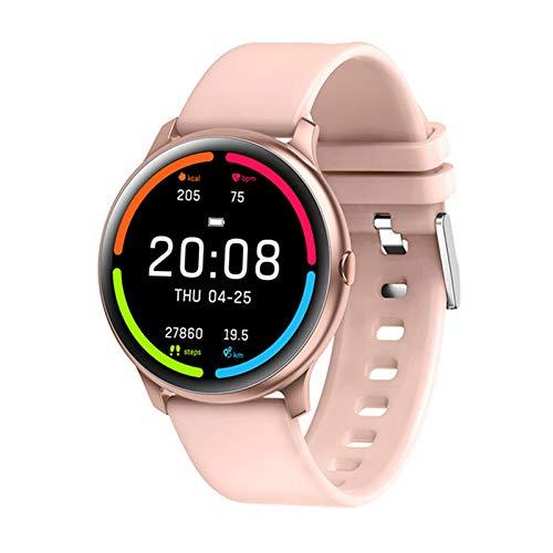 Gymqian Kw13 Smartwatch Ip68 Monitor de Ritmo Cardíaco Impermeable a Prueba de Agua Mujeres Pulsera Sport Natación Fitness Reloj Inteligente para Hombres Conectan Android Ios, a Desgaste d