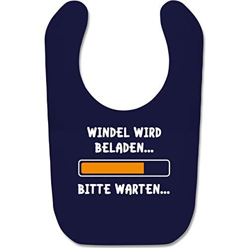 Shirtracer Sprüche Baby - Windel wird beladen - Unisize - Navy Blau - babylatz - BZ12 - Baby Lätzchen Baumwolle