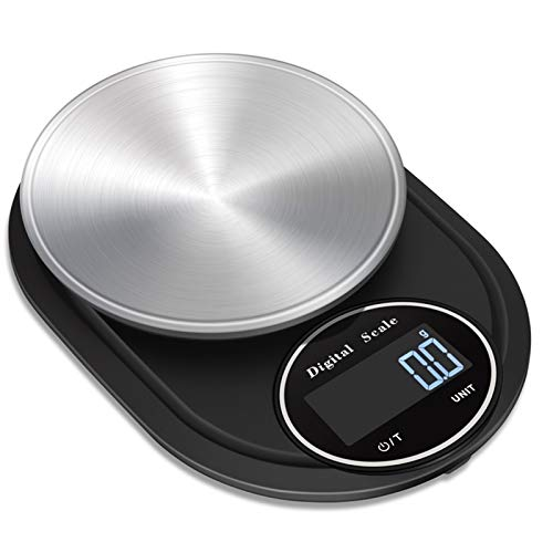 CZXKJ Balanza de Cocina 10kg 1g Cocina portátil Peso de Balance de 5kg 0.1g precisa Alimentación Digital Escala de Leche Agua de cocción for Hornear Escalas Balanzas de Cocina Peso Digital