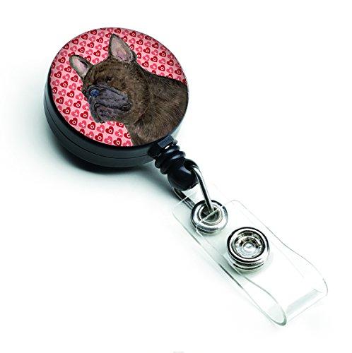 Caroline's Treasures SS4519BR French Bulldog Retractable Badge Reel or ID Holder with Clip, Belt Clip, Multicolor