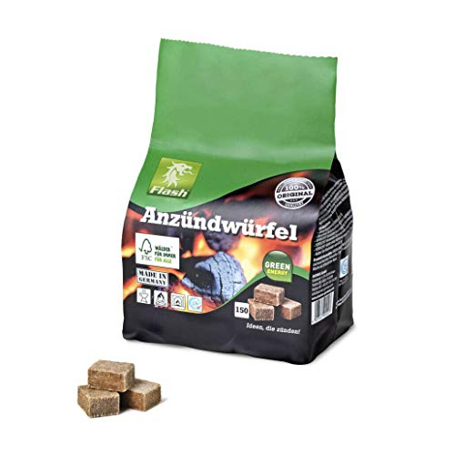 Boomex Flash Anzündwürfel - Holz und Wachs - 150 Würfel im Papierbeutel