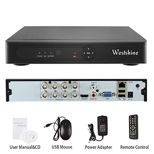 Westshine 1080N 8CH DVR/NVR Grabador de Video Digital H.264 CCTV Vigilancia de Seguridad, Soporta Onvif P2P Detección de Movimiento Alarma Email, Sin Disco Duro