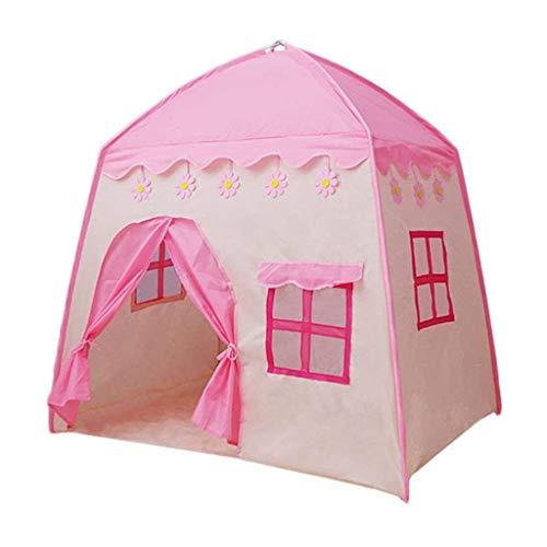 YDHWY Kinder Teepee Kinder Playhouse Stoff Kinderspielhaus for Indoor Outdoor mit Tragetasche Tragbarer Playhouse-Jungen-Mädchen Geburtstags-Geschenk (Color : Pink)
