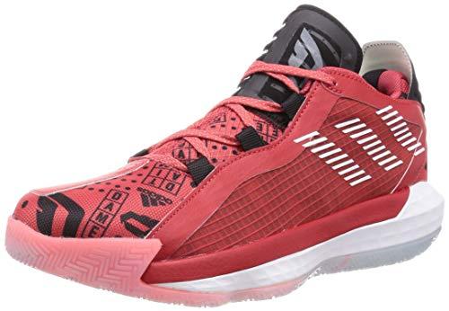 adidas Performance Dame 6 GCA - Zapatillas de baloncesto para hombre, color rojo oscuro y blanco, 12,5 UK - 48 EU - 13 US