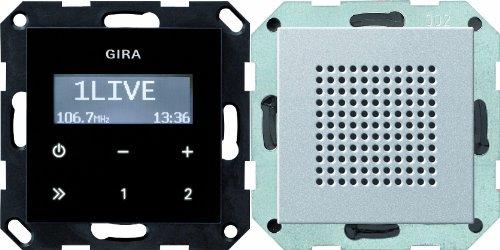 Gira 228026 Unterputz Radio RDS System 55, alu