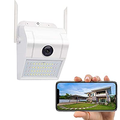 WiFi Floodlight Security Camera Outdoor, HD 1080P Wireless Spotlight Camera Motion Activated, Smart Wall Lamp Surveillance Camera, Two Way Talk, Alarm Events, Waterproof, Cloud & TF Card Local Storage
