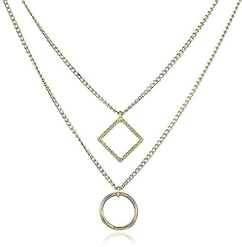 TTDAltd Collar Collares Moda Accesorios De Aleación Geométrica Cadena De Clavícula Simple Novia Enviar Joyería Perfecta Regalo