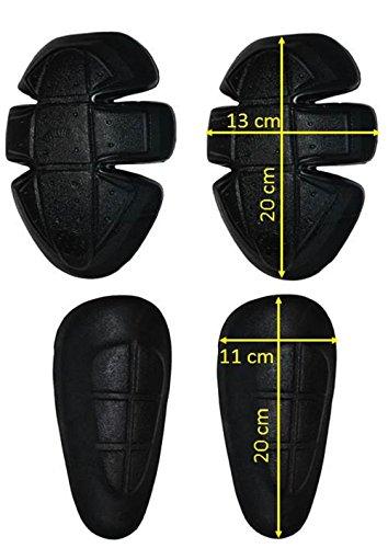 CE Protektoren Set 4X Protektoren für Motorrad Biker Hose Protektorenset Hose