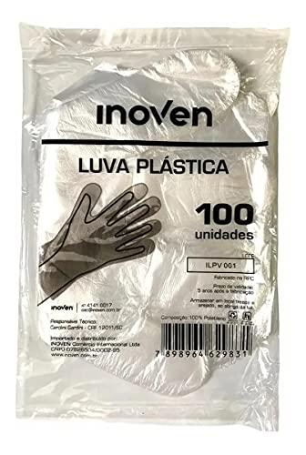 Luva de Plástico Descartável Para Proteção e Higiene 1000 Uni