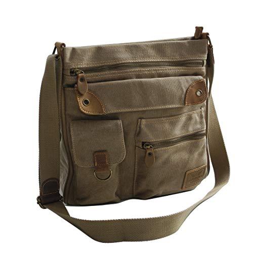 Canvas schoudertas van Harolds - ruime schoudertas Messengerbag Vintage Handtas - Denim (kleur naar keuze) - gepresenteerd door Zmoka®