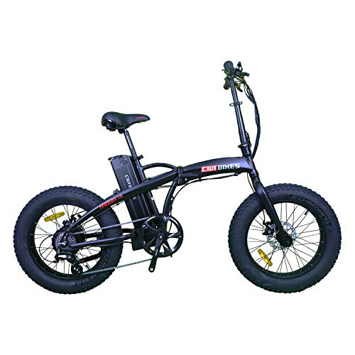 CIVI BIKES Rebel Folding Electric Bike 20inch 500W 48V Fat Tire Electric Bicycle Foldable Snow Beach...