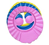 2pcs weicher Verstellbarer Shampoo Baden Dusche Cap Hat mit Ohr Haarwäsche Shield Hat für Baby Kinder Kinder