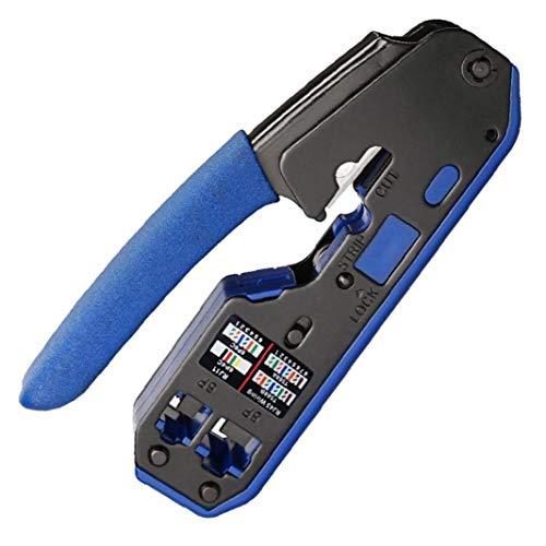 DierCosy Tools Herramienta Crimpadora para Conectores RJ45 6P 8P Crystal Alambre alicates Que Prensa Fin Paso a través del Separador de Cable Crimper