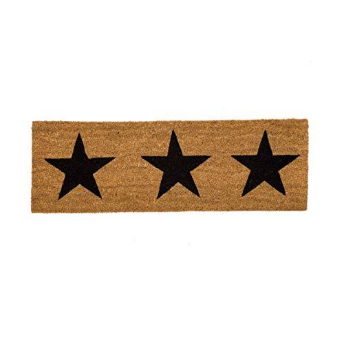 D,casa - Felpudo Estrellas Negro 75x25 cm
