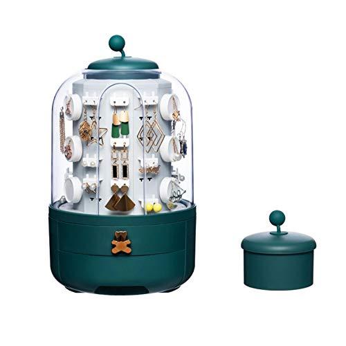 Joyero, caja giratoria para joyas, organizador de joyas, organizador de pulseras, pendientes, accesorios, bandeja de almacenamiento para pulseras, anillos, pulseras con 39 ganchos, pequeños artículos