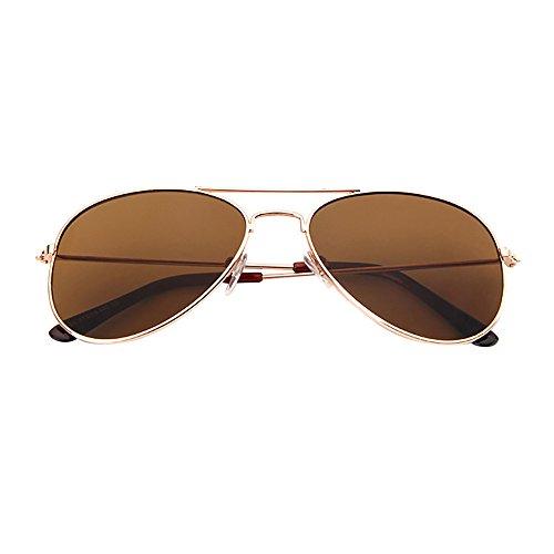 Battnot Sonnenbrille für Kinder Kids Jungen Mädchen, Pilotenbrille Polarisiert Unisex Vintage Mode Shades Anti-UV UV400 Gläser Sonnenbrillen Schutzbrillen Retro Billig Sunglasses Trendy Eyewear