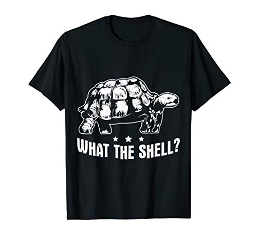 Funny Turtle Design What The Shell Turtoise T-Shirt