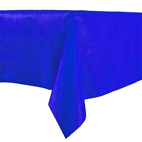 Lot de 20 napperons en papier bleu 100 x 100 cm tissu non tissé similaire au tissu bleu, nappe en papier à sec