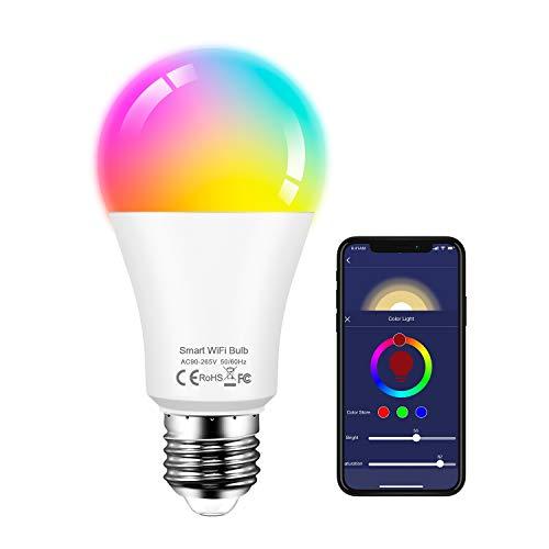 Smart LED-Lampe WLAN Glühbirnen 13W RGB Lampe Warmweiß 2700K Mehrfarbige Dimmbare LED Glühbirne Kompatibel mit Alexa Echo, Google Home Kein Hub Erforderlich (1 pack)