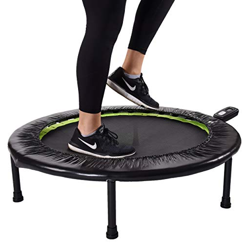 Stamina 1635 36-Inch Folding Trampoline | Quiet and Safe Bounce | Access to 3 Free Guided Online Workouts Included | Monitor Included | Stream from Any Device