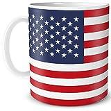 TRIOSK - Tazza con bandiera americana e bandiera dei paesi del paese regalo Stars Stripes souvenir per donne umane turistiche uomini lavoro ufficio