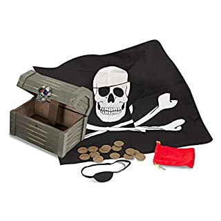 Melissa & Doug Wooden Pirate Chest Pretend Play Set (B0026ZPSFY) | Amazon price tracker / tracking, Amazon price history charts, Amazon price watches, Amazon price drop alerts