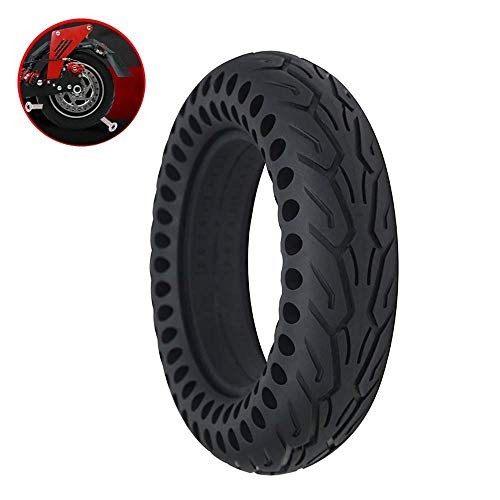 Electric Scooter Tires, 10 Inch 10X2.5 Explosion-Proof Solid Tires, Honeycomb Hollow Shock Absorption, High Elasticity and Durable Puncture-Resistant Tires,Safe and Comfortable Tires Durable and Str
