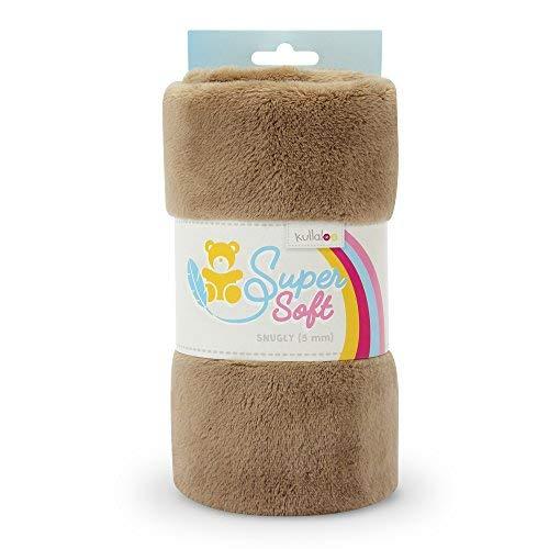 kullaloo Supersoft SNUGLY SB-Pack Plüschstoff, Minky, spielzeugtauglich, (Taupe)