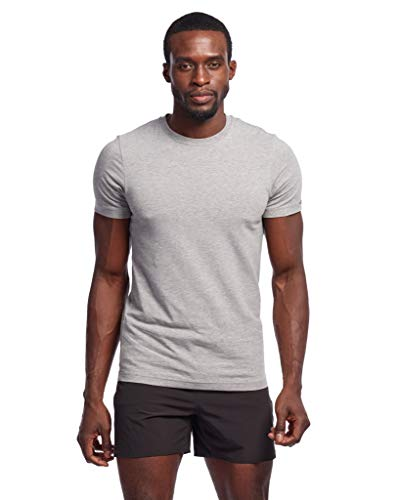 Rhone Element Tee Heather Gray X-Large Peruvian Cotton Slim Fit Tee Shirt for Soft Texture and Feel
